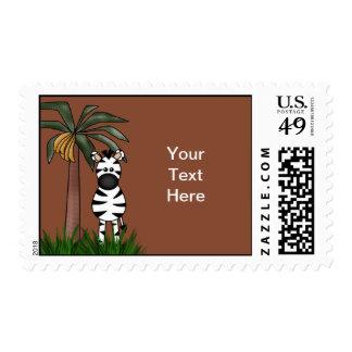 Zebra Postage Stamp