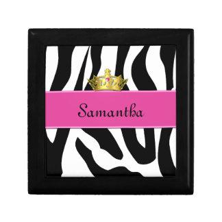 Zebra Princess Tile Box Jewelry Boxes
