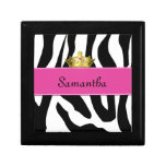 Zebra Princess Tile Box Jewelry Boxes