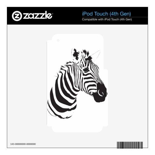 Zebra-print-001 Calcomanías Para iPod Touch 4G