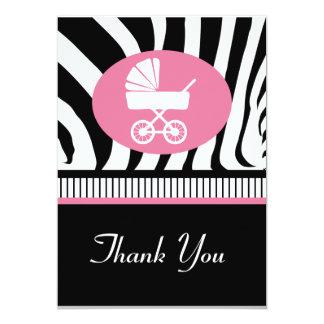Zebra Print 2 Baby Shower Thank You Card Custom Announcements