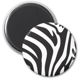 Zebra Print 2 Inch Round Magnet
