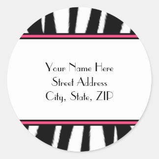 Zebra Print Address Labels Stickers