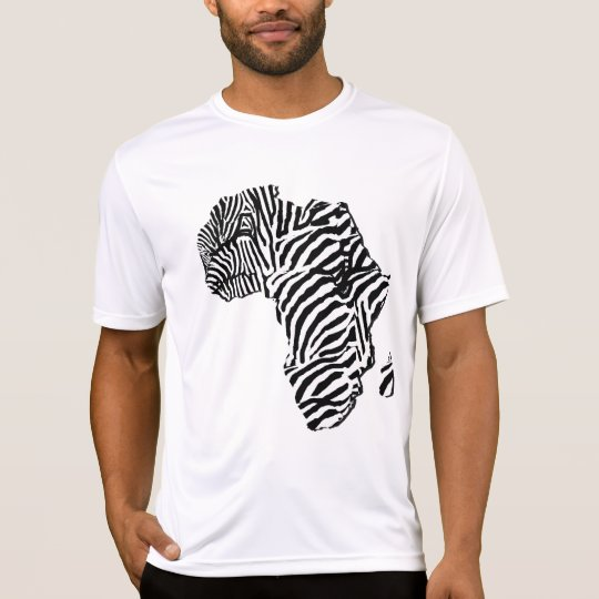 Zebra Print African Safari Africa Map T-Shirt