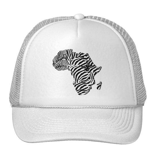 Zebra Print African Safari Africa Map Trucker Hat