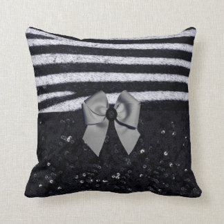 Zebra Print and Glitters Double Face Pillow