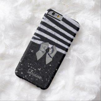 Zebra Print and Glitters iPhone 6 Case