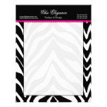 Zebra Print and Lace Letterhead