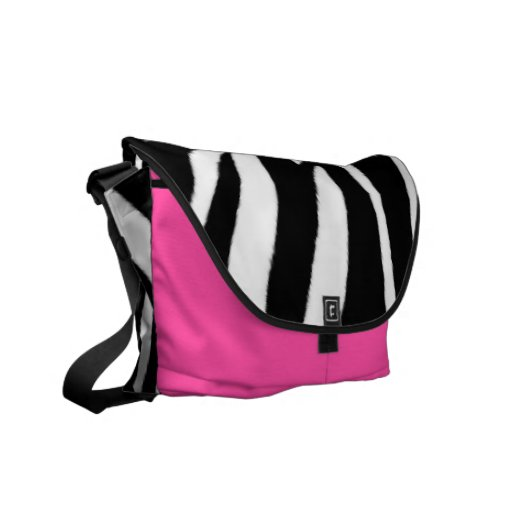 Zebra Print and Pink Messenger Bag