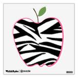 Zebra Print Apple Wall Decal