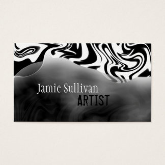 Zebra Print Artist Business Card Black & White
