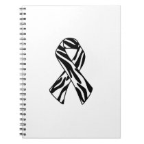 Zebra Print Awareness Ribbon Notebook