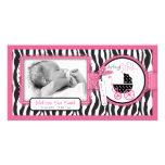 Zebra Print & Baby Carriage Announcement