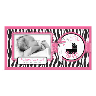 Zebra Print & Baby Carriage Announcement
