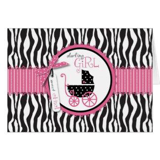 Zebra Print & Baby Carriage Card