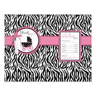 Zebra Print & Baby Carriage Favor Wrapper