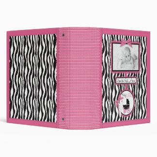 Zebra Print & Baby Carriage Photo Album Binder