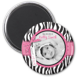 Zebra Print & Baby Carriage Photo Insert Magnet