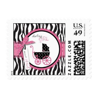 Zebra Print & Baby Carriage Postage