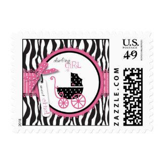 Zebra Print & Baby Carriage Stamps
