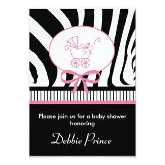 Zebra Print Baby Shower Invitation