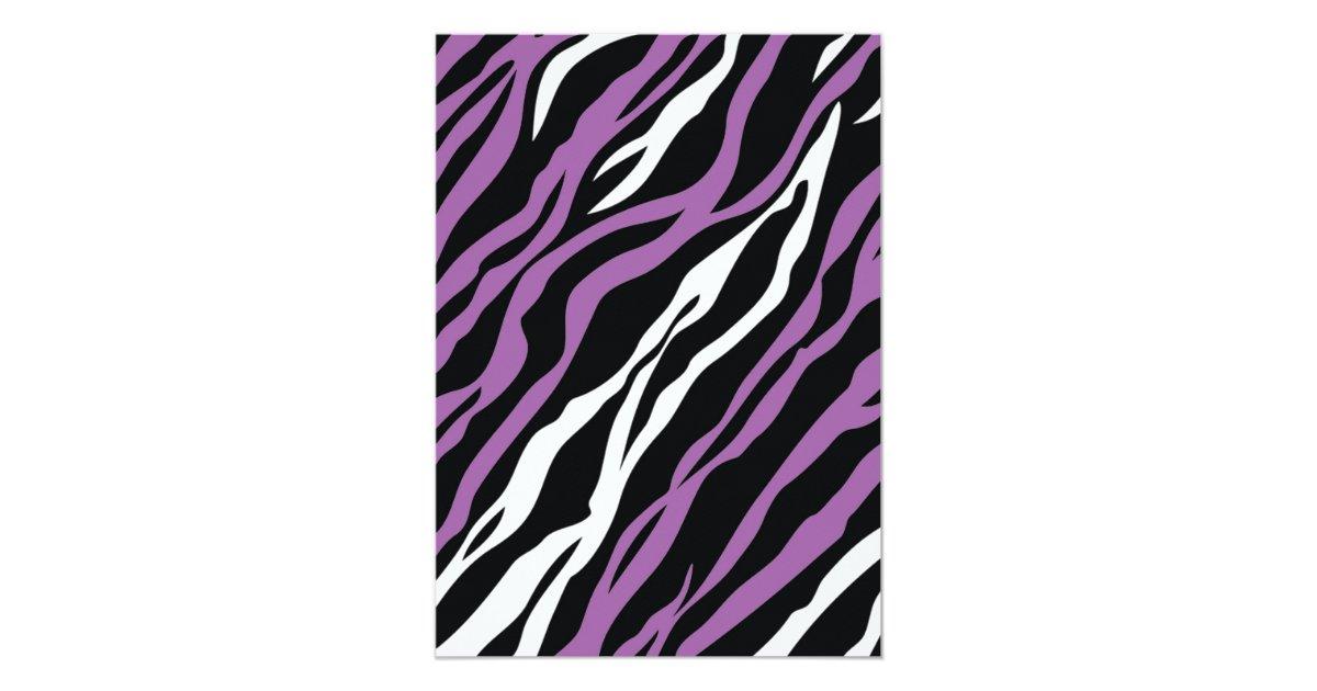 zebra print baby shower invitation purple zazzle