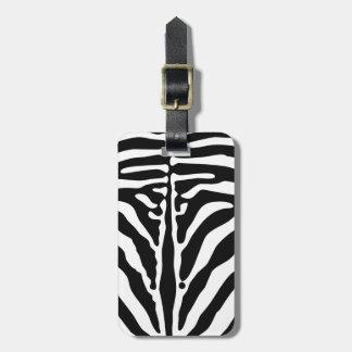 Zebra print bag tag