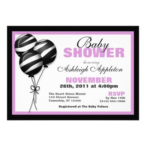 Purple Zebra Print Baby Shower Invitation Template 512 x 512