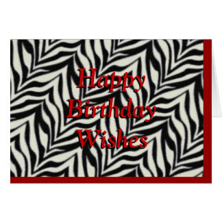 zebra print birthday card - customize any occasion