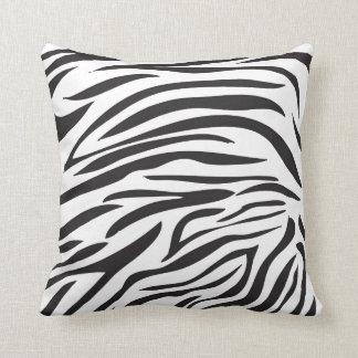 Zebra Print, Black and White Cushion Throw Pillows