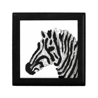 Zebra Print Black and White Stripes Gift Box
