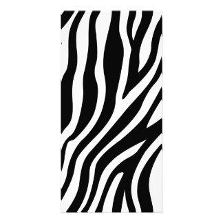 Zebra Print Black And White Stripes Pattern Card