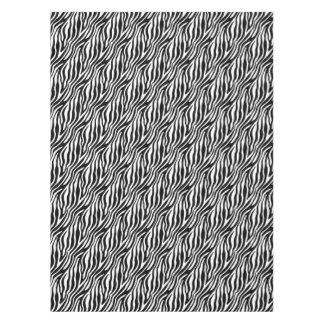 Zebra Print Black And White Stripes Pattern Tablecloth