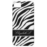 Zebra Print Black & White iPhone 5 Case