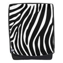 Zebra Print Boldface Backpack