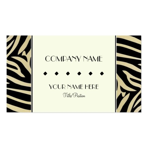 Free business card border templates zebra print border double sided standard business cards pack of 100 reheart Images