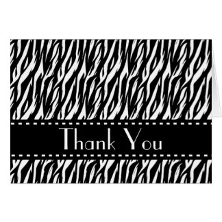 Zebra Print Bridal Shower Thank You Custom V02A Stationery Note Card