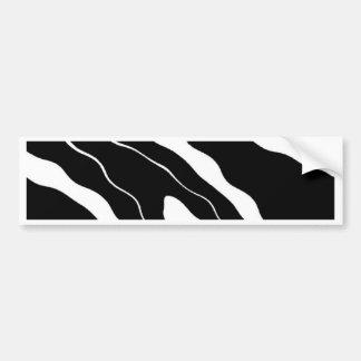 Zebra Print Bumper Sticker