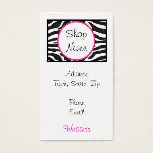 Zebra print business cards templates zazzle zebra print business card colourmoves