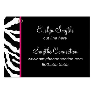 Zebra Print Business Card Template