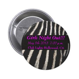 Zebra Print Pinback Buttons