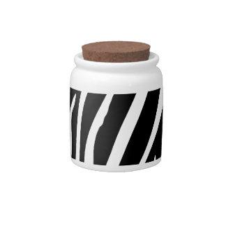 Zebra Print Candy Jar