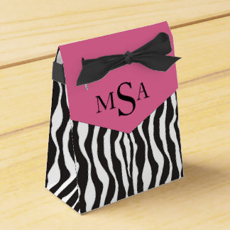 Zebra Print & Carriage Baby Shower Gift Box Party Favor Boxes