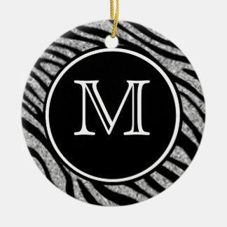 Zebra Print Ceramic Ornament