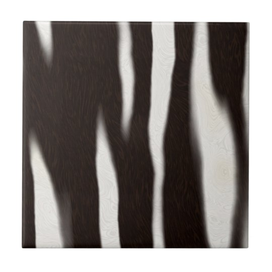 Zebra Print Ceramic Tile
