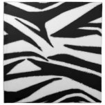 Zebra Print Cloth Dinner Napkins - Set Of 4