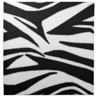 Zebra Print Cloth Dinner Napkins - Set Of 4