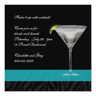 Zebra Print Cocktail Card