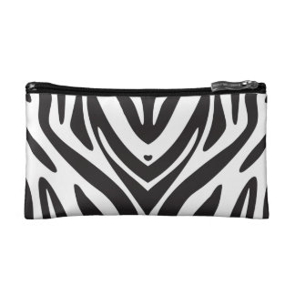 Zebra Print Cosmetic Bag