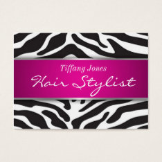 Zebra Print Cosmetology Appointment Card at Zazzle